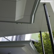 A view of the structural steel manufactured and architecture, daylighting, glass, house, roof, structure, window, gray, black