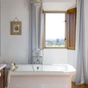 A view of Eighteenth Century Italian Architecture was bathroom, bathtub, curtain, floor, home, interior design, plumbing fixture, property, room, wall, window, window treatment, gray