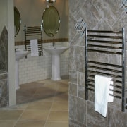 Jeeves towel warmer switches are not attached to bathroom, floor, flooring, home, interior design, room, tile, wall, gray