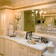 Extensive tiling characterizes this new bathroom, by NKBA bathroom, cabinetry, countertop, cuisine classique, estate, home, interior design, kitchen, room, orange