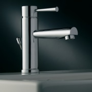 A view of some tapware by Webert Rubinetteria. hardware, lighting, plumbing fixture, product, product design, tap, black