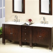 Ronbow's extensive product range icludes Shoji, with Vintage bathroom, bathroom accessory, bathroom cabinet, furniture, plumbing fixture, product design, sink, white, brown