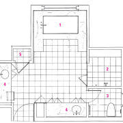 A view of a plan of the bathroom. area, design, drawing, floor plan, line, plan, product, product design, white