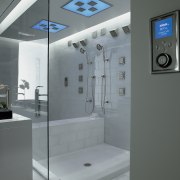 A view of the Kohler DTV ll control bathroom, glass, interior design, plumbing fixture, product design, gray