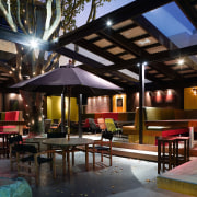 The partially enclosed garden bar makes the most interior design, lighting, lobby, real estate, black