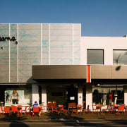 This commercial refit evolved to incorpirate a hospitality architecture, building, commercial building, facade, mixed use