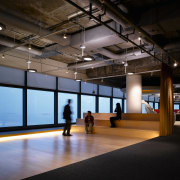 The exisiting office space was stripped back to interior design, black
