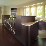 A view of the kitchen area, tiled flooring, cabinetry, countertop, cuisine classique, floor, flooring, hardwood, interior design, kitchen, real estate, room, black