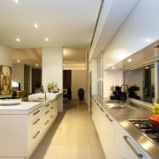 This kitchen, designed by Jude Porter, features 5mm ceiling, countertop, interior design, kitchen, real estate, gray