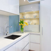 A view of the this kitchen designed by cabinetry, countertop, interior design, kitchen, real estate, room, white, gray