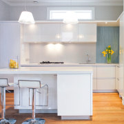 A view of the this kitchen designed by cabinetry, countertop, cuisine classique, furniture, home, interior design, kitchen, room, table, gray, white
