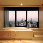 A view from every room - bathrooms in apartment, ceiling, interior design, living room, real estate, room, window, brown