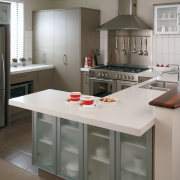 A view of these kitchens featuring cabinetry from cabinetry, countertop, cuisine classique, interior design, kitchen, room, gray