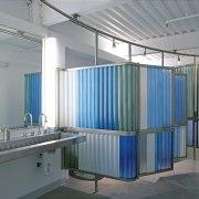 Traslucent acrylic panels ensure natrual daylight penetrates throughtout daylighting, interior design, product, gray