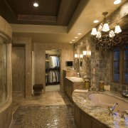 A view of this bathroom featuring gold wave bathroom, ceiling, estate, home, interior design, room, brown