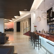 The latest internationally branded addition to Wellington's hotel café, interior design, lobby, restaurant, black