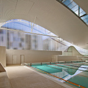 A view of the Interior of the Ian architecture, ceiling, daylighting, estate, interior design, leisure centre, line, roof, structure, tourist attraction, gray, brown