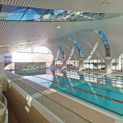 A view of the Interior of the Ian leisure, leisure centre, sport venue, structure, swimming pool, gray