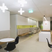 An interior view of the office building  architecture, ceiling, daylighting, interior design, office, product design, gray