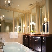 A view of this bathroom designed by Marshall bathroom, ceiling, estate, home, interior design, room, window, brown