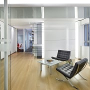 A view of the SLA offices in Kuala floor, interior design, office, gray, white
