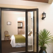 A view of a home designed by MF door, home, interior design, window, white, brown