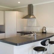 The Simpson range of appliances is desgined to apartment, countertop, cuisine classique, interior design, kitchen, property, real estate, room, gray