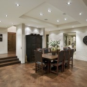 When it comes to surface finishes, it's what's ceiling, dining room, estate, floor, flooring, hardwood, interior design, laminate flooring, living room, lobby, property, real estate, room, wall, wood flooring, gray, brown