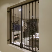 When it comes to surface finishes, it's what's door, glass, handrail, interior design, iron, window, brown