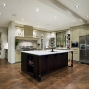 A view of some kitchen cabinetry by Marton cabinetry, ceiling, countertop, cuisine classique, floor, flooring, hardwood, interior design, kitchen, laminate flooring, real estate, room, wood flooring, gray, brown