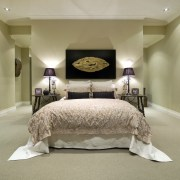 A view of some carpet from Cavalier Bremworth. bed, bed frame, bedroom, ceiling, floor, furniture, home, interior design, room, suite, wall, brown, orange