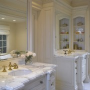 A view of this bathroom designed by Clive bathroom, ceiling, countertop, estate, floor, home, interior design, real estate, room, window, gray, brown