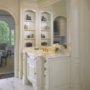 A view of this bathroom designed by Clive cabinetry, countertop, cuisine classique, estate, furniture, home, interior design, room, window, gray