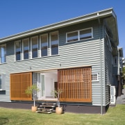 An exterior view of the home from the cottage, elevation, facade, home, house, property, real estate, residential area, siding
