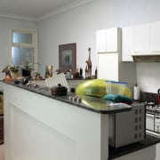 A view of the kitchen before renovation. - interior design, kitchen, room, gray