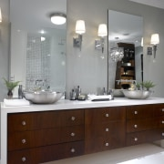 A view of this bathroom featuring Silestone Quartz bathroom, bathroom accessory, bathroom cabinet, cabinetry, countertop, home, interior design, kitchen, room, sink, gray
