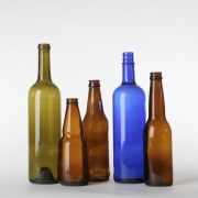 A view of some vanities from vetrazzo. - beer bottle, bottle, drinkware, glass bottle, liqueur, product, product design, tableware, wine bottle, white