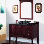 A view of some bathroom vanities by Fairmont bathroom accessory, bathroom cabinet, chest of drawers, furniture, product, white, red