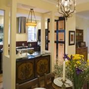 View of Kitchen designed by Celia Visser Design, ceiling, dining room, home, interior design, kitchen, living room, room, brown, orange