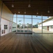 View of Williamstown High School in Melbourne. Designed daylighting, floor, flooring, real estate, tourist attraction, wood, black