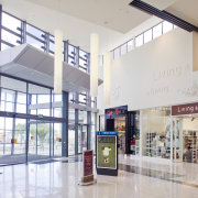 View of the inside of Westfield Shooping Centre, building, interior design, lobby, retail, shopping mall, white