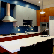 Contemporary kitchen silver maple cabinets - Contemporary kitchen cabinetry, countertop, interior design, kitchen, room