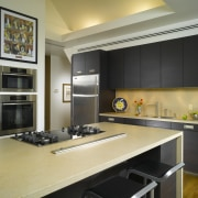 View of remodelled kitchen by SieMatic Atlanta. - cabinetry, countertop, cuisine classique, interior design, kitchen, black, orange