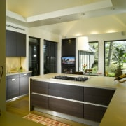 View of remodelled kitchen by SieMatic Atlanta. - cabinetry, countertop, interior design, kitchen, real estate, room, brown