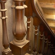 The interior also is renowned for the quality flooring, furniture, hardwood, wood, wood stain, brown, orange
