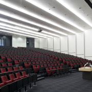 View of the Fisher & Paykal Appliances auditorium auditorium, building, conference hall, convention center, performing arts center, theatre, black, white