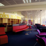 The role of the library has changed dramaticlly ceiling, institution, interior design, lobby