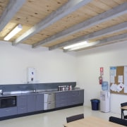 View of Stahlton Engineered Concretes new office and architecture, ceiling, daylighting, floor, interior design, roof, gray
