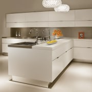 White kitchen cabinetry contemporary kitchen - White kitchen countertop, furniture, home appliance, interior design, kitchen, kitchen appliance, kitchen stove, product, product design, gray, brown