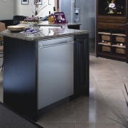 View of Asko appliance dishwashers. - View of cabinetry, countertop, floor, flooring, furniture, hardwood, home appliance, kitchen, kitchen appliance, major appliance, gray, black